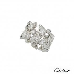 Cartier 18k White Gold Diamond Ring 2.91ct G/VS